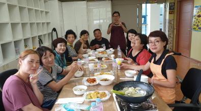 추석명절행사 참여인원 단체사진